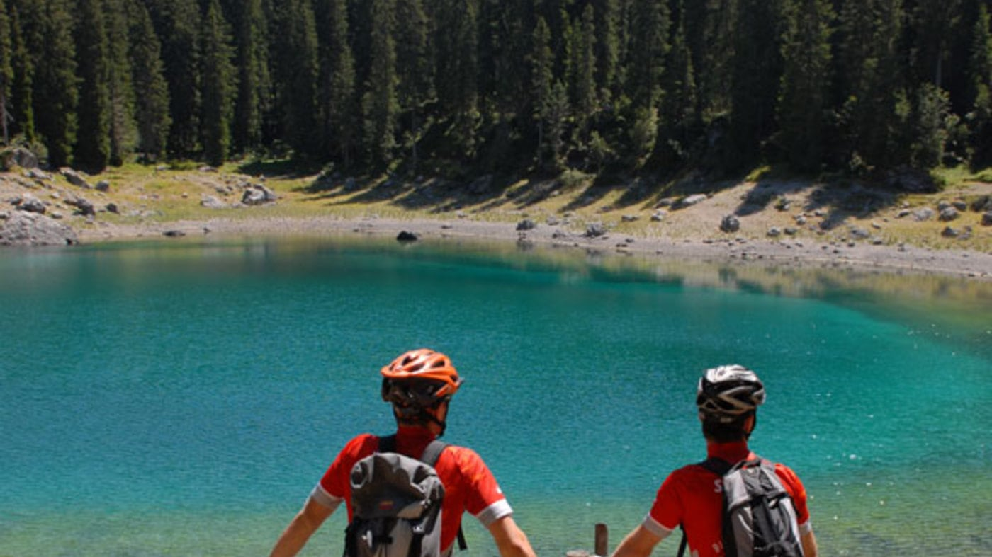 Tour in mountain bike al Catinaccio