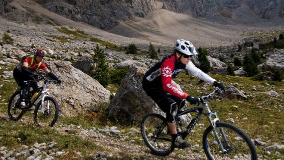 Mountain Bike Tours at the Rosengarten Massif